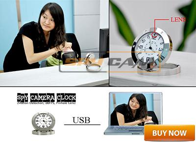 Spy Small Table Clock Camera In Delhi India