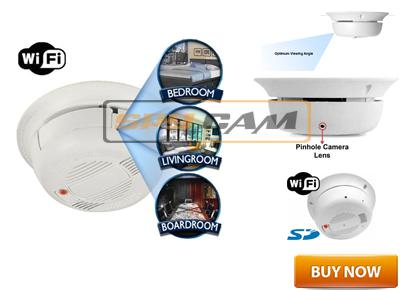 Spy Wi-Fi Smoke Detector Camera In Delhi India