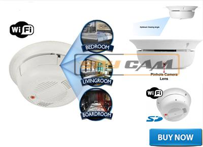 Wi-Fi Smoke Detector Camera In Delhi India