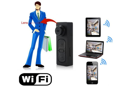 Spy live wifi video button camera