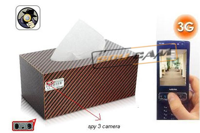 Spy 3G Hidden Car Tissue Paper Box