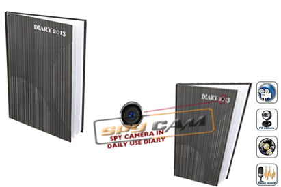 Spy Camera In Daily Use Diary